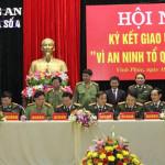 Cụm thi đua số 4 ký Giao ước thi đua 'Vì an ninh Tổ quốc' năm 2015