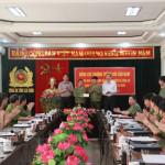 Thượng tướng Bùi Văn Nam làm việc tại Công an tỉnh Lai Châu
