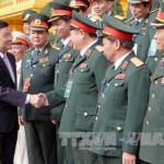 Chủ tịch nước Trương Tấn Sang gặp mặt các cựu chiến binh Quân đoàn 2 tại Phủ Chủ tịch