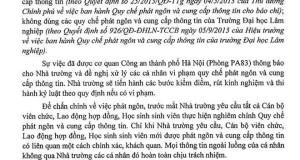 phat ngon cua dai hoc lam nghiep