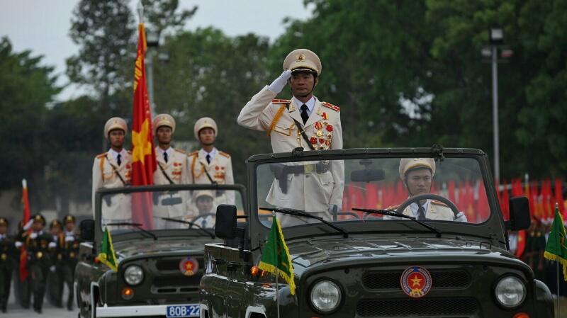 Buổi diễu binh mang một khí thế hào hùng