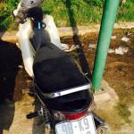 Tìm chủ sở hữu xe máy quên trước cổng Công an phường Tây Tựu