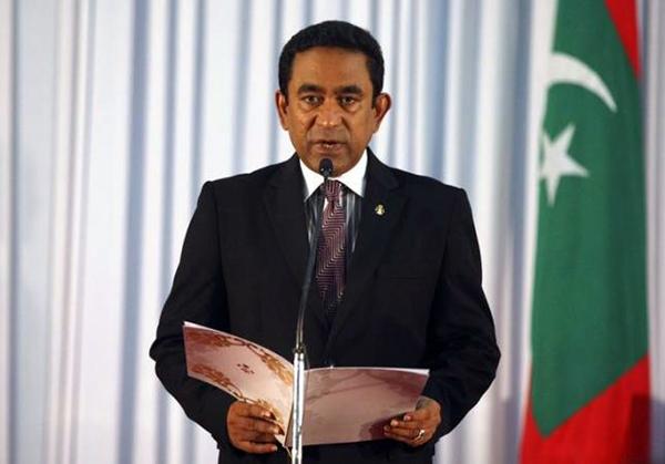 Tổng thống Maldives Yameen Abdul Gayoom. Ảnh: Reuters.