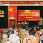 14/9: Thứ trưởng Bùi Văn Nam làm việc với Công an tỉnh Quảng Bình