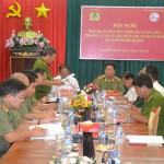 HCM: Thứ trưởng Bùi Văn Thành chủ trì Hội nghị triển khai phương án diễn tập chữa cháy