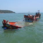 Tàu cá bị chìm, một người mất tích