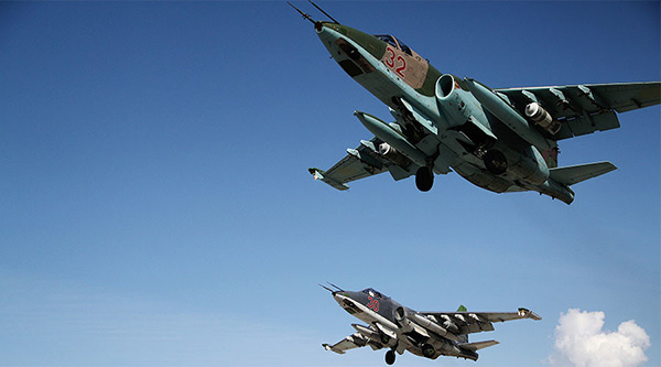 Chiến đấu cơ của Nga tham gia không kích IS tại Syria.