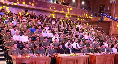 Các đại biểu tại Lễ khai mạc Liên hoan Truyền hình CAND lần thứ X.