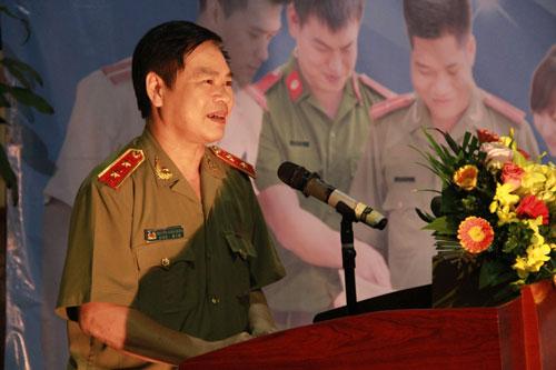 Trung tướng Nguyễn Xuân Mười phát biểu chỉ đạo tại Hội thi.