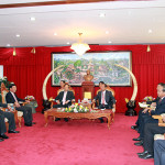 Đại biểu cấp cao BCA Việt Nam gặp Bộ trưởng Bộ An ninh CHDCND Lào