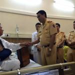Trung tá CSGT bị thương khi làm nhiệm vụ được lãnh đạo thăm hỏi