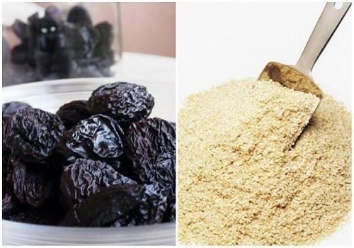 Mận khô và bột yến mạch là những nguyên liệu giúp giảm cân nhanh chóng.