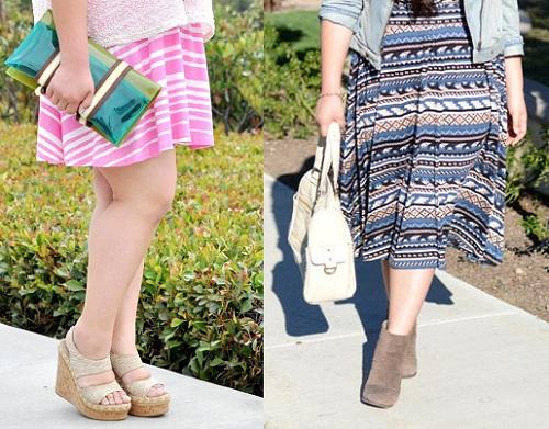 Boot cổ ngắn hay giày đế thô không thích hợp khi chọn trang phục cho nàng béo.
