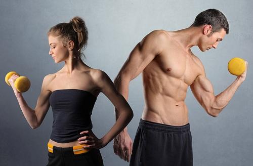 Tỷ lệ cơ của phụ nữ ít hơn nên khó giảm cân hơn đàn ông.