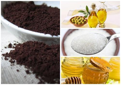 Bã cafe kết hợp với dầu oliu hoặc dầu dừa cũng tạo nên hỗn hợp làm hồng nhũ hoa hiệu quả