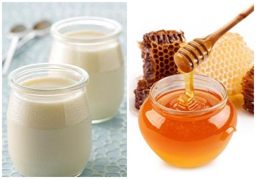 Sữa chua và mật ong giúp trị giãn mao mạch hiệu quả