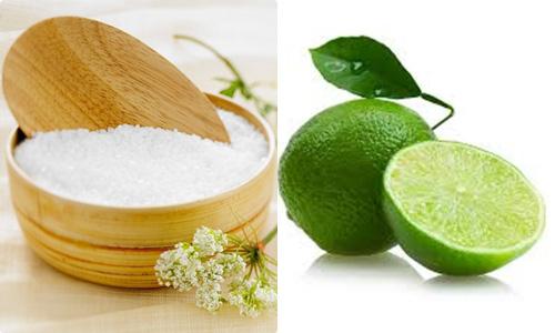 Muối và chanh có công dụng xóa xăm hiệu quả
