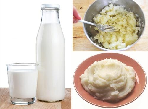 Mặt nạ khoai tây và sữa mang lại làn da trắng hồng như ý