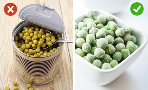 Các loại rau quả đóng hộp thực sự không tốt cho quá trình giảm cân