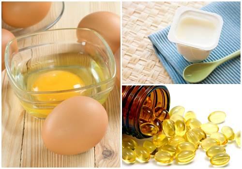 Trứng gà, sữa chua và vitamin E là hỗn hợp tuyệt vời kích thích núi đôi phát triển