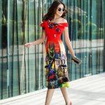 Thanh Hằng xuống phố với những chiếc váy đa sắc màu, hút hồn